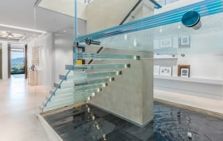 Decorative Glass Stair Treads