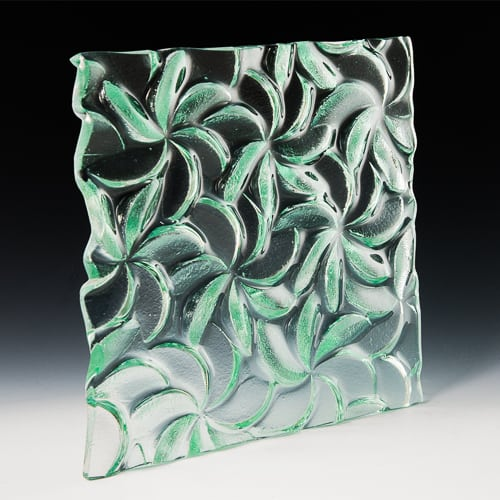 Pinwheel Textured Glass