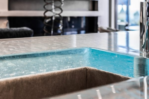 Hollingsworth Thick Glass Countertop