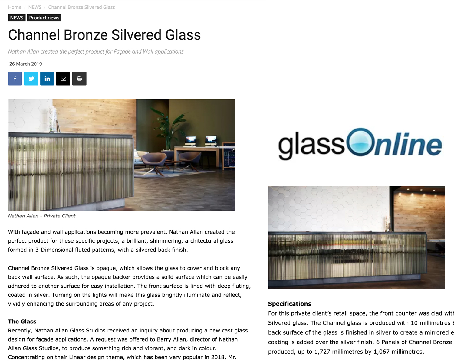 Glass Online | Channel Bronze Silvered Glass