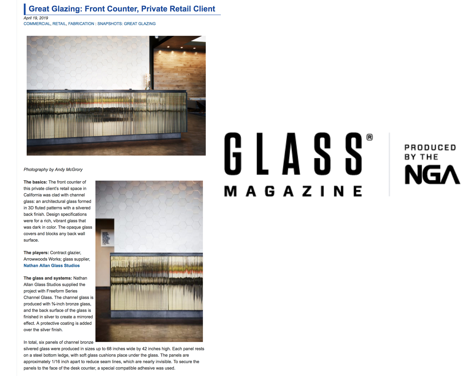 GLASS MAGAZINE | Channel Bronze Silvered Glass