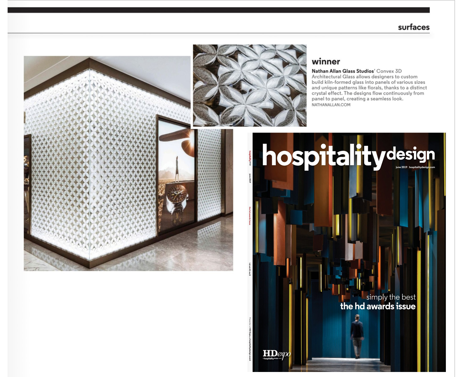Hospitality Design | Convex 3D Architectural Glass