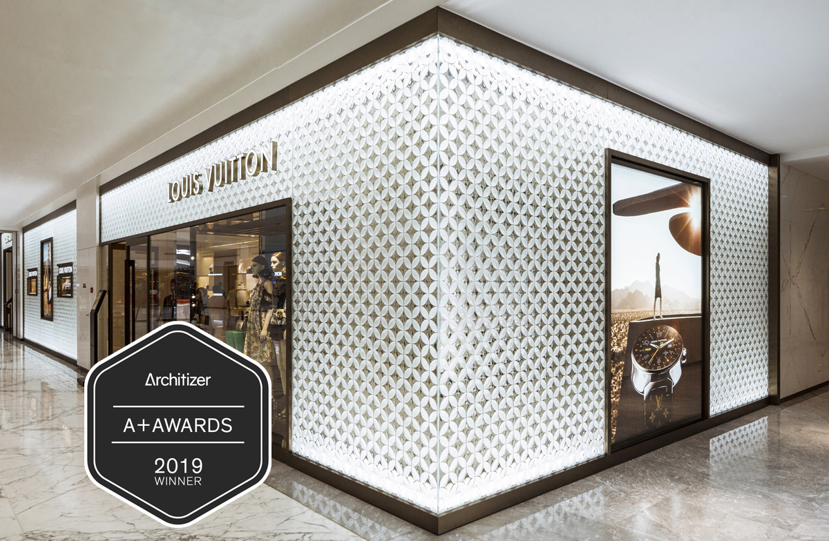 Architizer A+Awards 2019 | Louis Vuitton Custom Convex 3D Architectural Glass